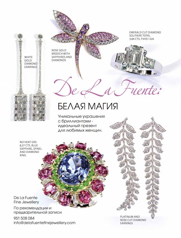 Delafuente Fine Jewellery at Linda magazine - February 2015