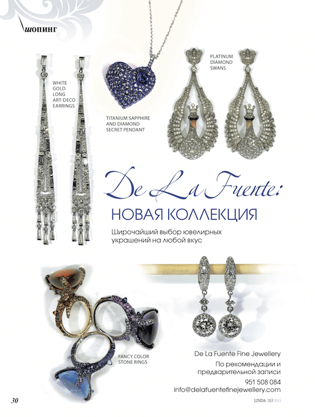 Delafuente Fine Jewellery at Linda magazine - April 2015