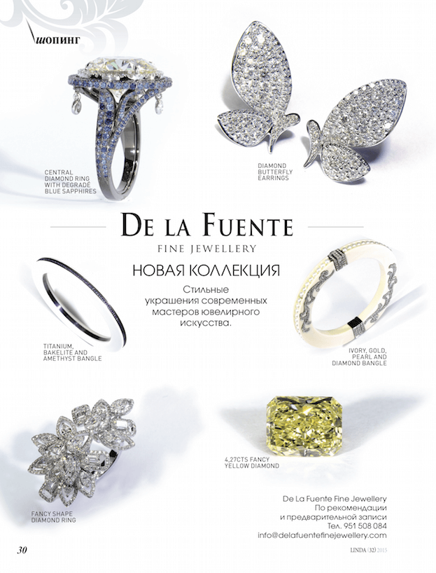 Delafuente Fine Jewellery at Linda magazine - June 2015