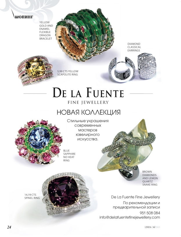 Delafuente Fine Jewellery at Linda magazine - October 2015