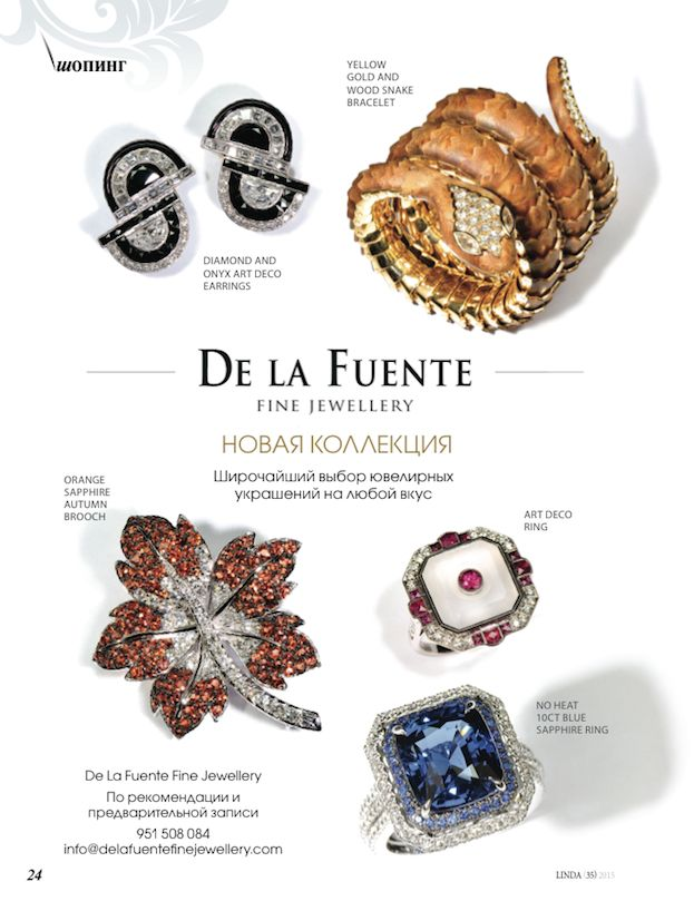 Delafuente Fine Jewellery at Linda magazine - December 2015