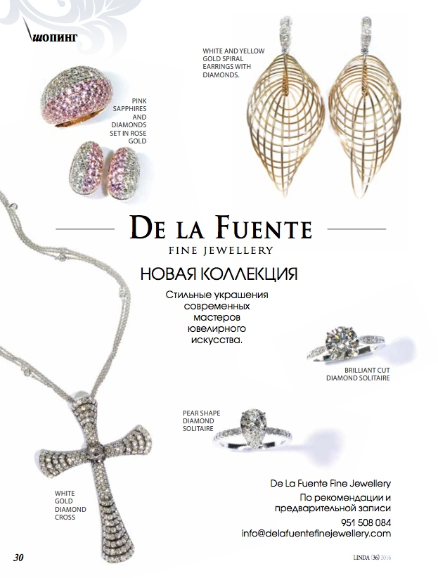 Delafuente Fine Jewellery at Linda magazine - January 2016