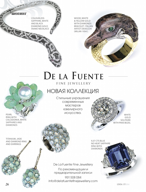 Delafuente Fine Jewellery at Linda magazine - February 2016