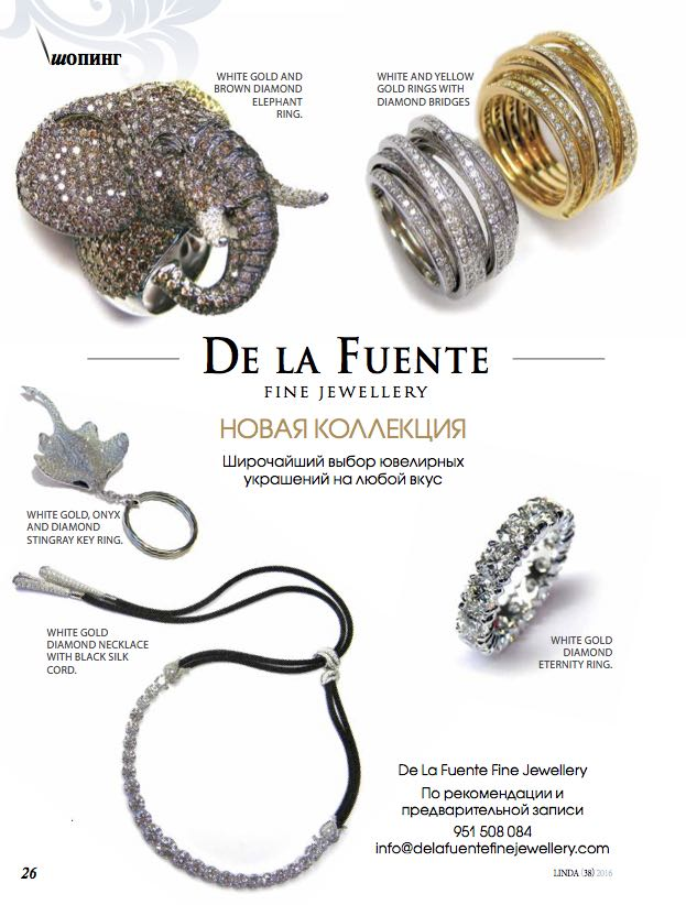 Delafuente Fine Jewellery at Linda magazine - May 2016