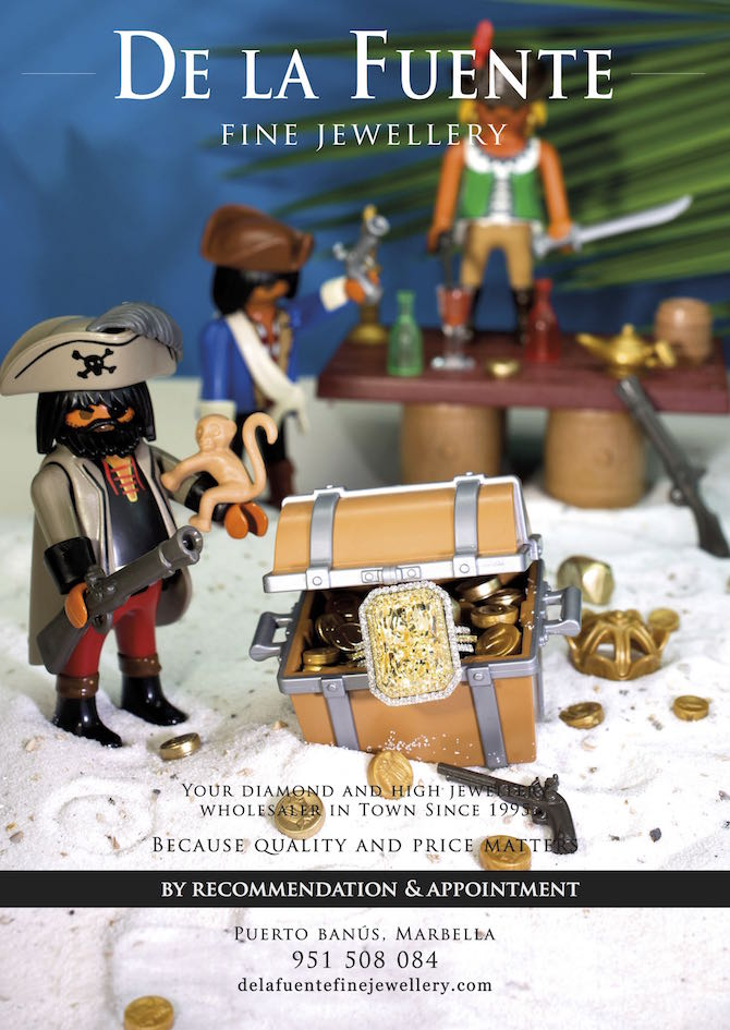 De-la-Fuente-Fine-Jewellery-advert-pirate-treasure-playmobil